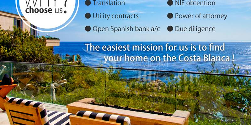 Your home on the Costa Blanca with Premium Spain Homes